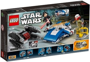 LEGO 75196 A-Wing vs. TIE Silencer Microfighters Set
