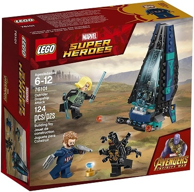 LEGO 76101 The Outrider Dropship Attack Set - Space Infinity Stones