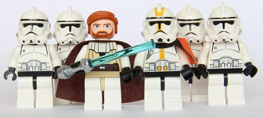 LEGO Star Wars - Commander OBI Wan & 5 Clone Trooper Army