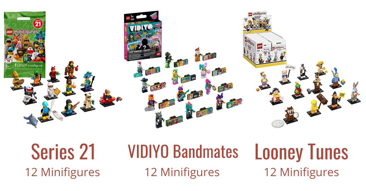 LEGO CMF Series 21, VIDIYO Bandmates and Looney Tunes Number of Minifigures